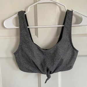 Calia by Carrie Underwood gray knotted sports bra